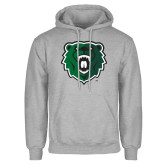 Grey Fleece Hoodie-Athletic Bear Head