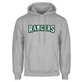 Grey Fleece Hoodie-Rangers Wordmark