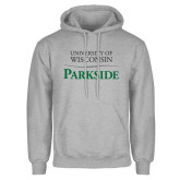 Grey Fleece Hoodie-Parkside Wordmark Vertical