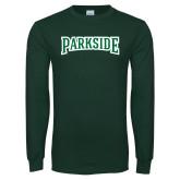 Dark Green Long Sleeve T Shirt-Parkside Wordmark