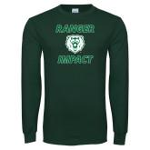 Dark Green Long Sleeve T Shirt-Ranger Impact with Bear Head