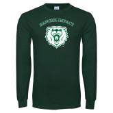 Dark Green Long Sleeve T Shirt-Ranger Impact Arched over Bear Head