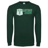 Dark Green Long Sleeve T Shirt-Defend The Den