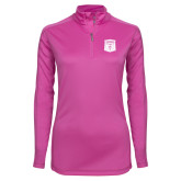 Ladies Syntrel Interlock Raspberry 1/4 Zip-Primary Athletic Mark