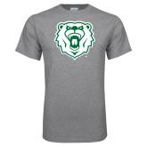 Grey T Shirt-Athletic Bear Head