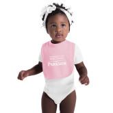 Light Pink Baby Bib-Parkside Wordmark Vertical