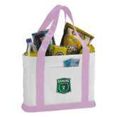 Contender White/Pink Canvas Tote-Primary Athletic Mark