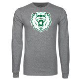 Grey Long Sleeve T Shirt-Athletic Bear Head