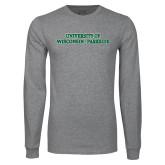 Grey Long Sleeve T Shirt-University of Wisconsin-Parkside