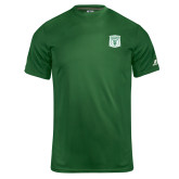 Russell Core Performance Dark Green Tee-Primary Athletic Mark