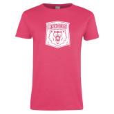 Ladies Fuchsia T Shirt-Primary Athletic Mark