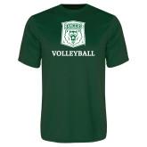 Performance Dark Green Tee-Volleyball