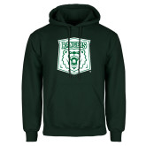 Dark Green Fleece Hood-Primary Athletic Mark