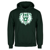 Dark Green Fleece Hood-Athletic Bear Head