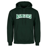 Dark Green Fleece Hood-Rangers Wordmark