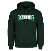 Dark Green Fleece Hood-Parkside Wordmark