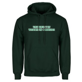 Dark Green Fleece Hood-University of Wisconsin-Parkside