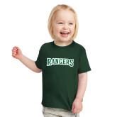 Toddler Dark Green T Shirt-Rangers Wordmark