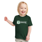 Toddler Dark Green T Shirt-Primary Athletic Mark with Wordmark
