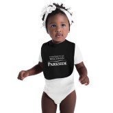 Black Baby Bib-Parkside Wordmark Vertical
