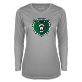 Ladies Syntrel Performance Platinum Longsleeve Shirt-Athletic Bear Head