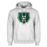 White Fleece Hoodie-Athletic Bear Head