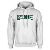 White Fleece Hoodie-Rangers Wordmark