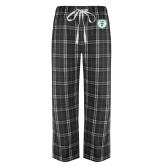 Black/Grey Flannel Pajama Pant-Athletic Bear Head