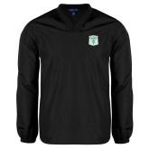 V Neck Black Raglan Windshirt-Primary Athletic Mark