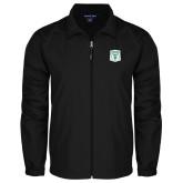 Full Zip Black Wind Jacket-Primary Athletic Mark