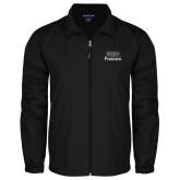 Full Zip Black Wind Jacket-Parkside Wordmark Vertical