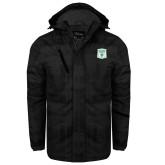 Black Brushstroke Print Insulated Jacket-Primary Athletic Mark