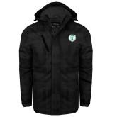 Black Brushstroke Print Insulated Jacket-Athletic Bear Head