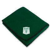Dark Green Arctic Fleece Blanket-Primary Athletic Mark