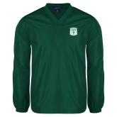 V Neck Dark Green Raglan Windshirt-Primary Athletic Mark