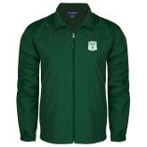Full Zip Dark Green Wind Jacket-Primary Athletic Mark