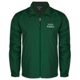 Full Zip Dark Green Wind Jacket-Parkside Wordmark Vertical