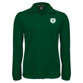 Fleece Full Zip Dark Green Jacket-Athletic Bear Head