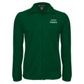 Fleece Full Zip Dark Green Jacket-Parkside Wordmark Vertical