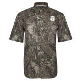 Camo Short Sleeve Performance Fishing Shirt-Primary Athletic Mark
