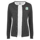 Ladies Charcoal Cardigan-Primary Athletic Mark