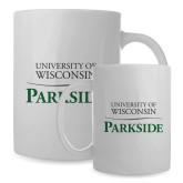 Full Color White Mug 15oz-Parkside Wordmark Vertical