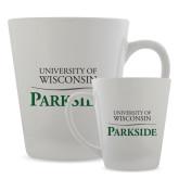 Full Color Latte Mug 12oz-Parkside Wordmark Vertical