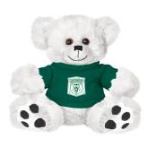 Plush Big Paw 8 1/2 inch White Bear w/Dark Green Shirt-Primary Athletic Mark