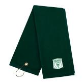 Dark Green Golf Towel-Primary Athletic Mark
