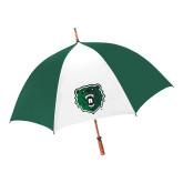 62 Inch Forest Green/White Umbrella-Athletic Bear Head