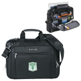 Kenneth Cole Black Vertical Checkpoint Friendly Messenger-Primary Athletic Mark