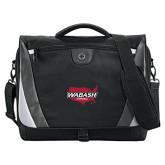 Slope Black/Grey Compu Messenger Bag-Wabash