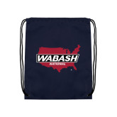 Navy Drawstring Backpack-Wabash