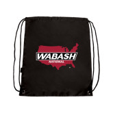 Black Drawstring Backpack-Wabash